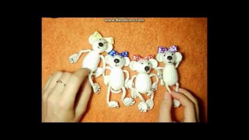 Игрушка мышка,вязание крючком амигуруми,как связать крючком игрушки амигуруми.