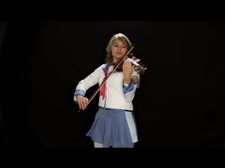 Кавер на скрипке по аниме Ангельские Ритмы - Angel Beats! Theme (Violin) - Taylor Davis