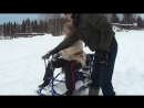 испытание мини снегохода Хаски