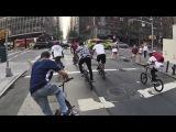 Найджел Сильвестр катает на BMX по Нью-Йорку