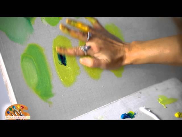 Уроки живописи маслом от Ольги Базановой: смешение цветов - зеленый