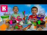 Мороженое Челлендж с Сникерсом и укропом mini M&ampM's Ice Cream Challenge with Snickers &amp Mars