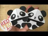 Easy Panda Bear Bookmark DIY (Great for Kung Fu Panda fans too)