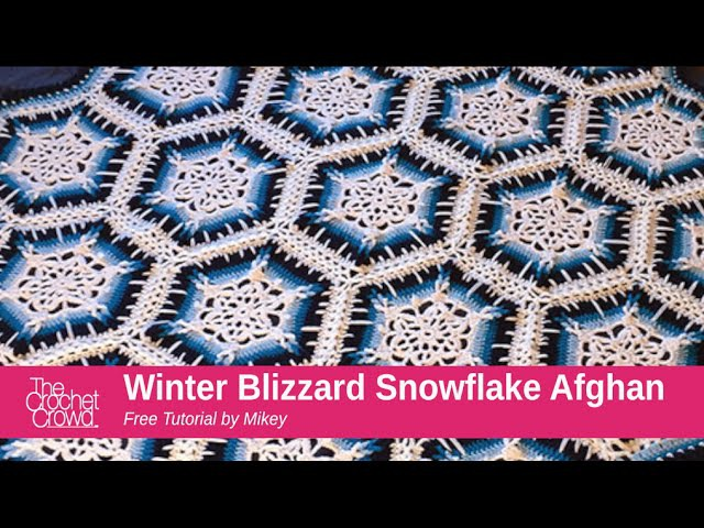 How to Crochet A Blanket: Winter Blizzard