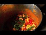 Спагетти с креветками и руколой (Spaghetti con gamberetti e rucola)