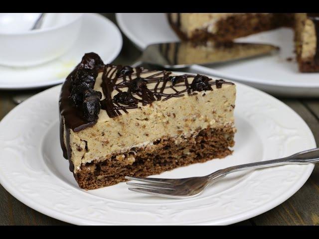 Низкокалорийный Торт Мусс с Черносливом ✧ Low-Calorie Mousse Cake (English Subtitles)