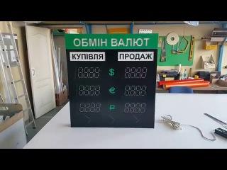 Светодиодный указатель обмен валют на 6 ценников. Led indicator foreign exchange of 6 price tags