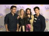 Violetta en Vivo - Entrevista a Tini, Jorge, Mechi y Diego