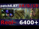 Dota 2 patch 6.87/Top MMR - Reol - Enchantress /KDA - 14/0/19 aghanim scepter + Hurricane Pike