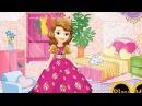 NEW Игры для детей—Disney Принцесса София первая спальная кровать—мультик для девочек