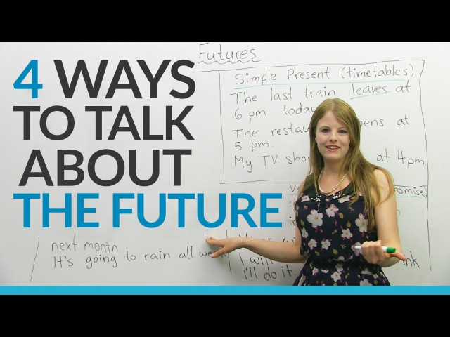 Learn English Tenses 4 ways to talk about the FUTURE