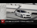 2015 BMW 550 bagged Ferrada FR4 Machine Silver / Chrome Lip