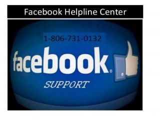 Get instant services for Facebook Help 1-806-731-0132
