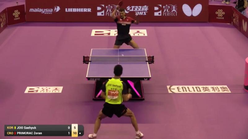 Joo Saehyuk vs Zoran Primorac (2016 World Championships)