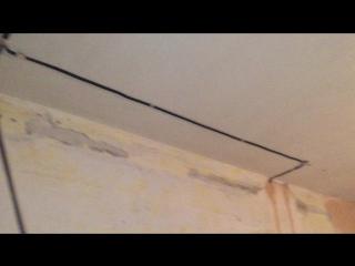 Электромонтаж двухкомнатной квартиры в панельном доме. (бетон)