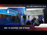 Na`Vi going on stage @ ESL One Frankfurt 2016