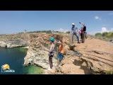 Рома мыс Фиолент Роупджампинг в Крыму с командой Скайлайн