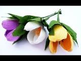 Подарок на 8 марта своими руками.DIY gift for 8 march.Весенние цветы из фома.Поделки с детьми