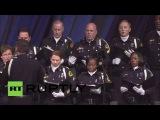 США: Отпевание провел для Техаса сержант полиции убит в Далласе стрельбе.