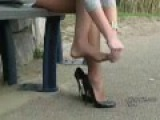 My favourite StilettoGirl.com girl Naomi wearing stilettos and nylons!
