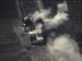 Результат авиационного удара по опорному пункту террористов, расположенному в районе ТЭР-ТЬЯНА. Сирия.