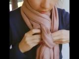 Как правильно носить шарфики-платочки.
