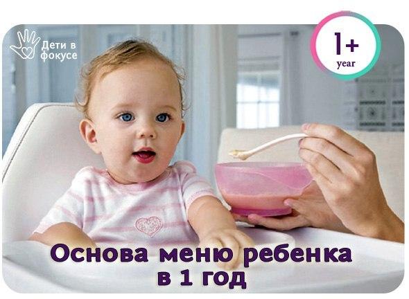 Основа меню ребенка в 1 год