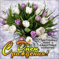 С Днем рождения Поздравления Тюльпаны Цветы
