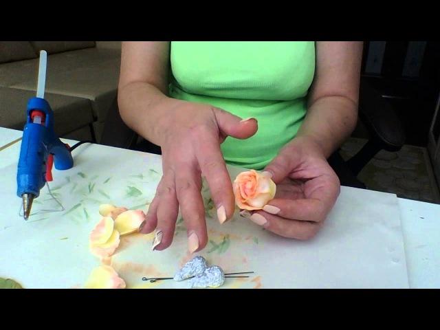 Видео мастер- класс по изготовлению розы классической из фоамирана