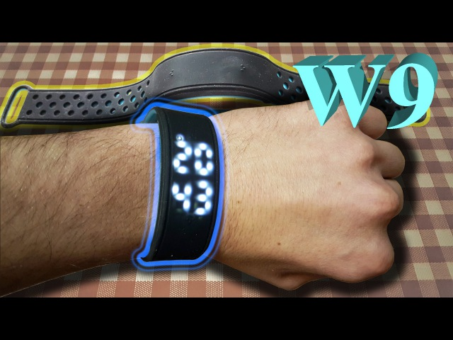SmartWatch W9 - pedometer. Сonnection to smartphone