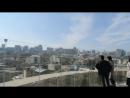 вид с вершины Девичьей башни в Баку