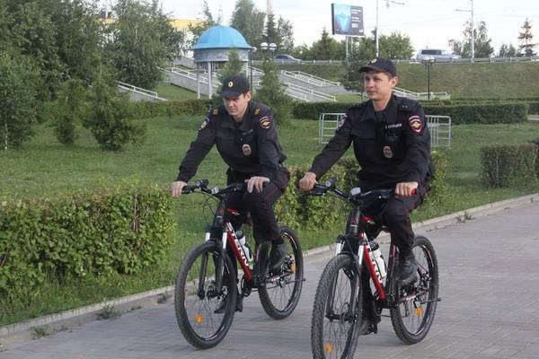В Альметьевске появились полицейские велосипедные патрули