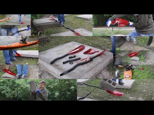 Crash test of paddle Werner camano Тест на міцність весла Werner camano (UKR)