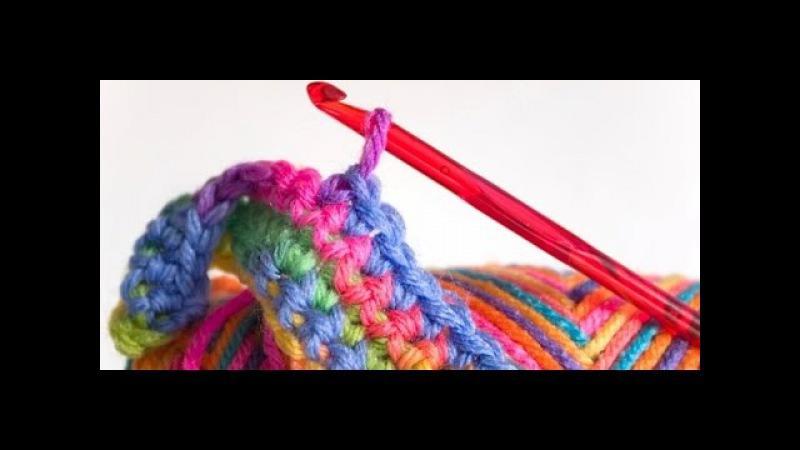 1 Урок. Подробное вязание крючком для начинающих.