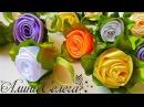 МК бутон розы из ленты 5 см МК Алина Селега