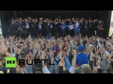Iceland performs ultimate 'Viking war chant' Euro 2016 team