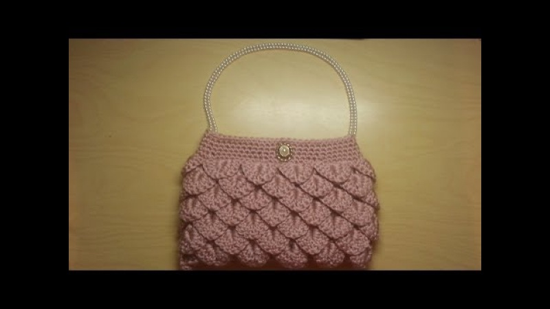 Crochet How To Crochet crocodile stitch clutch purse Tutorial 5 LEARN CROCHET