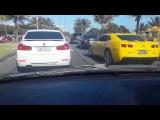 2 Camaros + Subaru STI + Bmw 328 Acelerando TUDO !! na Orla da Barra- RJ
