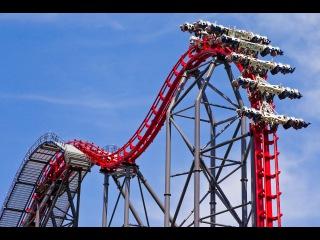 Американские горки обзор 360 градусов degree Roller Coaster 360 Virtual Reality - The X2 at Six Flags