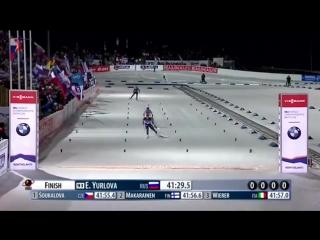 Победа Екатерины Юрловой на ЧМ по биатлону в индивидуальной гонке/ 2015