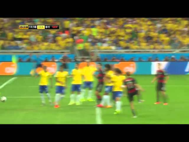 Brazil vs Germany 1 7 highlights 2014 FIFA World Cup Semi Finals