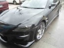Mazda rx8 bodykit mag black chrome rims tinted lights veilside bodykits sexy beast machine dark
