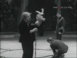 Олег Попов на арене Московского Цирка (1957)