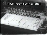 1950 early electronic synthesizer 'This is music with a strictly electronic beat'