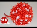 Мастер-класс Канзаши. Цветы из лент. Ободок на голову Хризантема Канзаши /Chrysanthemum...