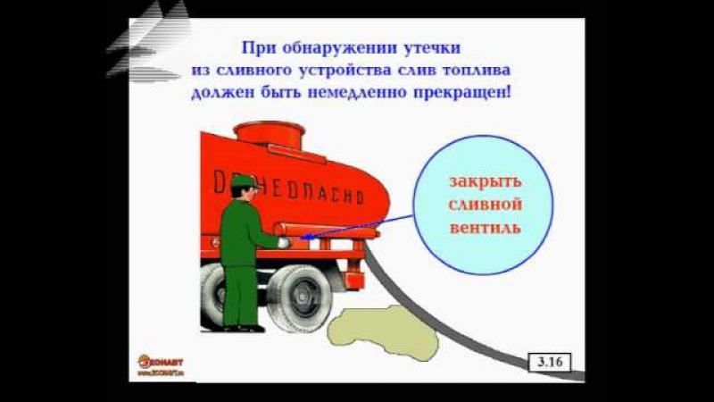Учебный фильм по охране труда Работа на автозаправочных станциях