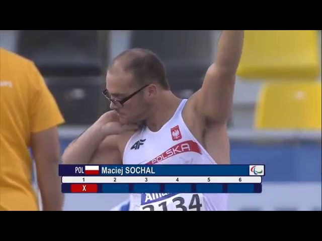 Men's shot put F32 final 2015 IPC Athletics World Championships Doha