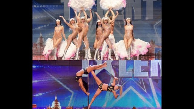 Britain's Got Talent S08E04 Sexy Vegas Acts Compilation
