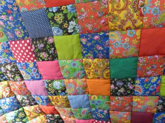 Лоскутное одеяло Случайный цвет за 30 минут! Мастер-класс Мир лоскутов.ру