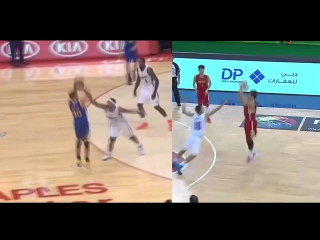 Zhao Yanhao 赵岩昊 shooting form similarities to Steph Curry FIBA Under 17 World